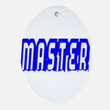 MASTER-THICK BLUE OUTLINE Oval Ornament