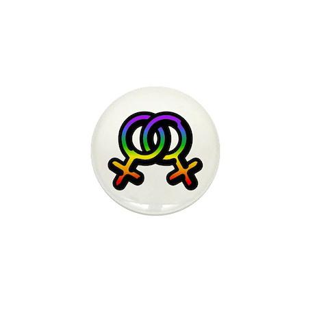 Lesbian Pride Mini Button (10 pack)