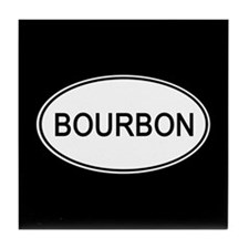 Bourbon Euro Oval black Tile Coaster