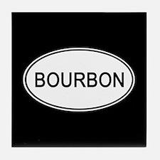 Bourbon Euro Oval black Tile Coaster