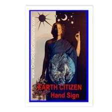 Earth Citizen HAND SIGN Postcards (Package of 8)