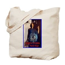 Earth Citizen HAND SIGN Tote Bag