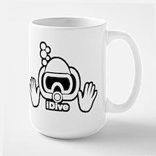 IDIVE SCUBA ORIGINAL Large Mug