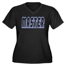 MASTER-POWDER OUTLINE Women's Plus Size V-Neck Dar