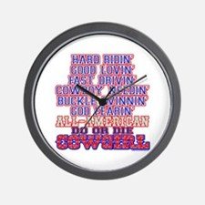 DO OR DIE COWGIRL Wall Clock