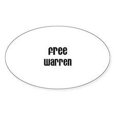 Free Warren Oval Decal