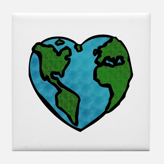 Earth Day Tile Coaster