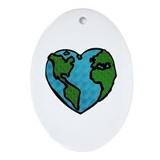 Earth Day Oval Ornament