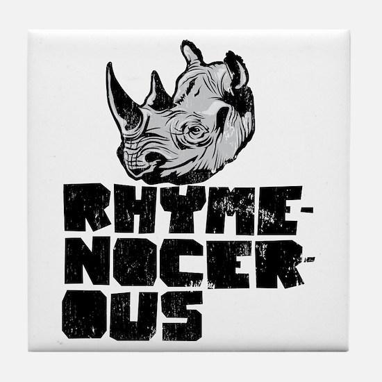 rhymenocerous graffiti Tile Coaster