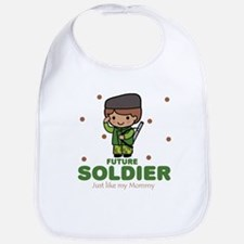 Future Soldier like Mommy Baby Infant Toddler Bib