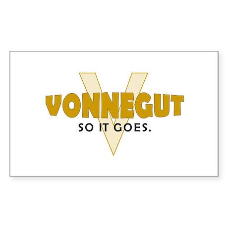 Vonnegut Rectangle Sticker