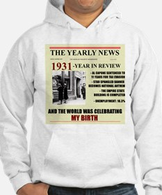 born in 1931 birthday gift Hoodie