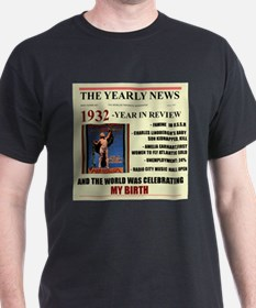 born in 1932 birthday gift T-Shirt
