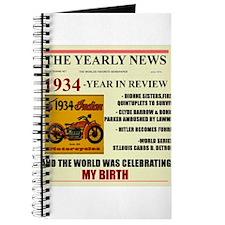 born in 1934 birthday gift Journal