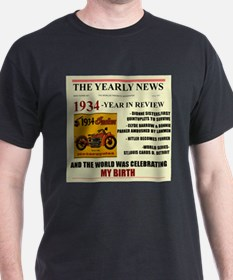 born in 1934 birthday gift T-Shirt