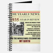 born in 1935 birthday gift Journal