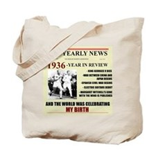 born in 1936 birthday gift Tote Bag
