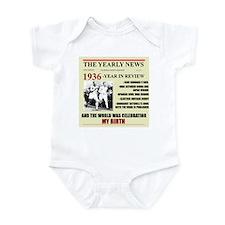 born in 1936 birthday gift Infant Bodysuit