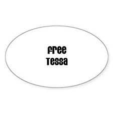 Free Tessa Oval Decal