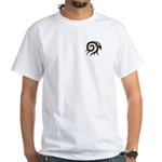 Tribal Pocket Twirl White T-Shirt