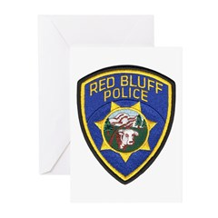 Red Bluff Police Greeting Cards (Pk of 20)