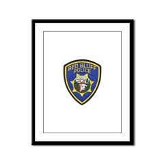 Red Bluff Police Framed Panel Print