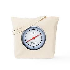 Gas vs Wallet Gauge Tote Bag