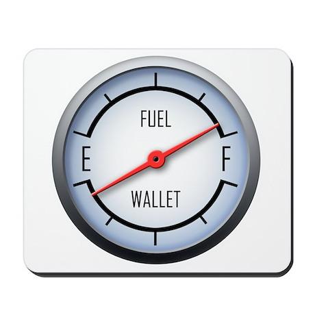 Gas vs Wallet Gauge Mousepad