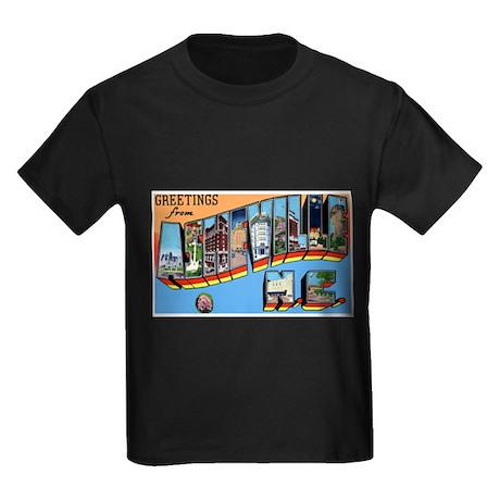 Asheville North Carolina Gree Kids Dark T-Shirt