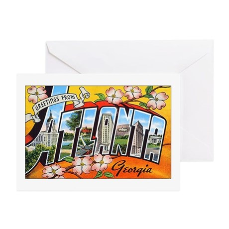 Atlanta Georgia Greetings Greeting Cards (Pk of 20