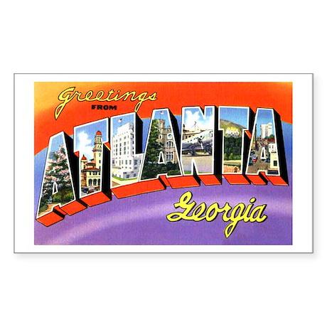 Atlanta Georgia Greetings Rectangle Sticker 10 pk