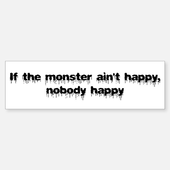 Monster happy Bumper Bumper Bumper Sticker