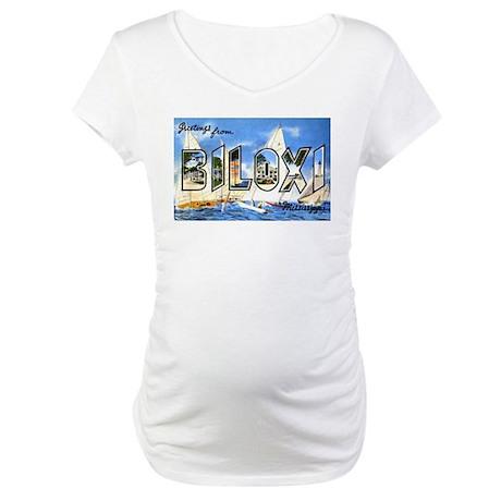 Biloxi Mississippi Greetings Maternity T-Shirt