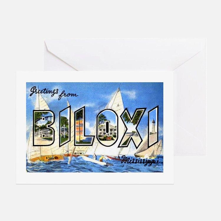 Biloxi Mississippi Greetings Greeting Card