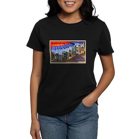 Binghamton New York Greetings Women's Dark T-Shirt