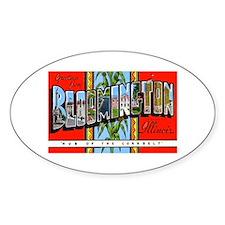 Bloomington Illinois Greeting Oval Sticker (10 pk)