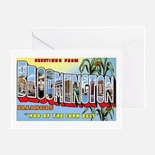 Bloomington Illinois Greeting Greeting Card