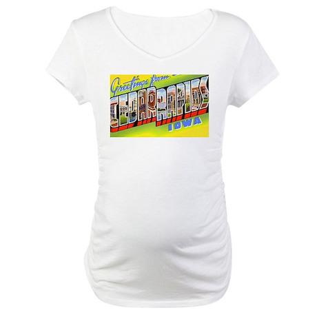 Cedar Rapids Iowa Greetings Maternity T-Shirt