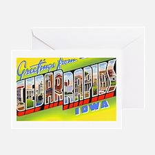 Cedar Rapids Iowa Greetings Greeting Card