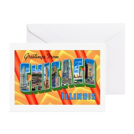 Chicago Illinois Greetings Greeting Cards (Pk of 2