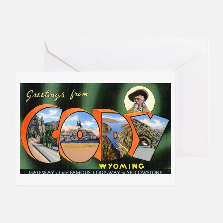 Cody Wyoming Greetings Greeting Card