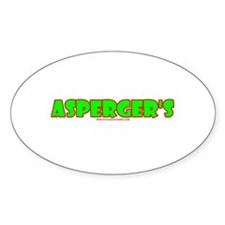 Asperger's Oval Bumper Stickers