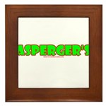 Asperger's Framed Tile