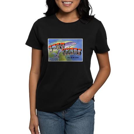 Fort Myers Florida Greetings Women's Dark T-Shirt