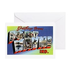 Fort Wayne Indiana Greetings Greeting Card