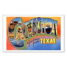 Galveston Texas Greetings Rectangle Sticker 10 pk