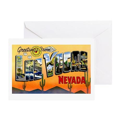 Las Vegas Nevada Greetings Greeting Card
