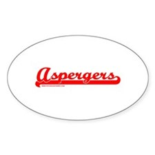 Softball Asperger's Oval Decal
