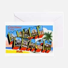 Miami Beach Florida Greetings Greeting Card