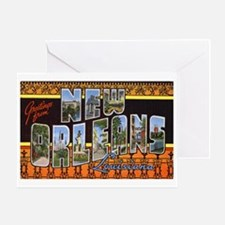 New Orleans Louisiana Greetin Greeting Card